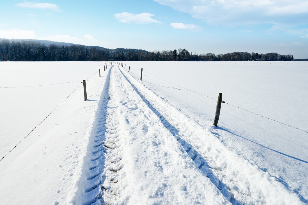 Country Road in snowy Landscape