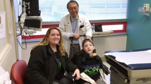 Valerie and Preston Weaver with Preston's doctor Dr. Yong Park (Georgia Regents University)
