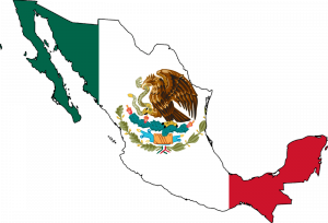 mexico flag map